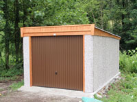 flat roof garage brown pvc door