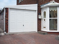 lean to garage brick front