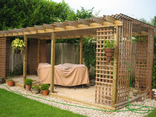 A completed pergola