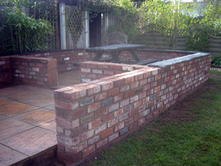 A patio wall