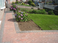 Block paving  front drive