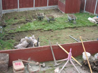 Levelling  ground & rear fencing